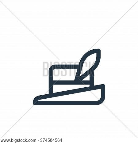 hat icon isolated on white background from europe collection. hat icon trendy and modern hat symbol