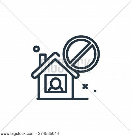 isolated icon isolated on white background from virus restrictions collection. isolated icon trendy