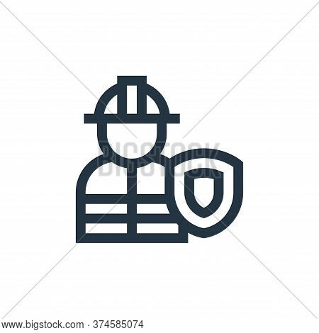 worker icon isolated on white background from insurance collection. worker icon trendy and modern wo