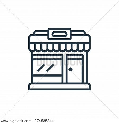 market icon isolated on white background from motorway collection. market icon trendy and modern mar