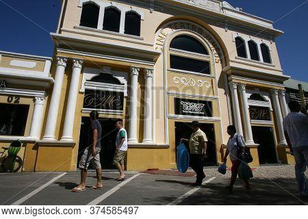 Ilheus, Bahia / Brazil - March 26, 2012: View Of The Cine Teatro Ilheus In The City Of Ilheus In Sou