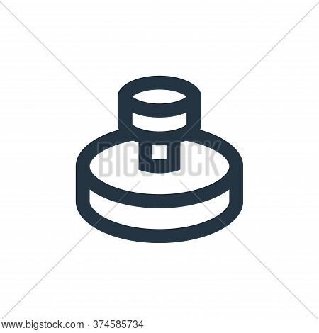 stamp icon isolated on white background from office stationery collection. stamp icon trendy and mod