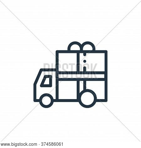 delivery car icon isolated on white background from online shopping collection. delivery car icon tr