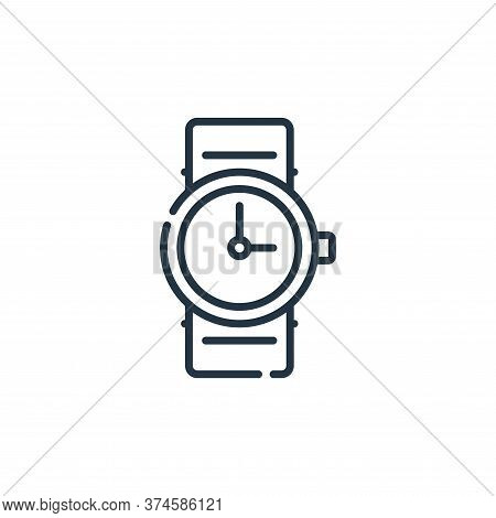 watch icon isolated on white background from calendar and date collection. watch icon trendy and mod