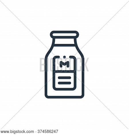 milk icon isolated on white background from smart farm collection. milk icon trendy and modern milk