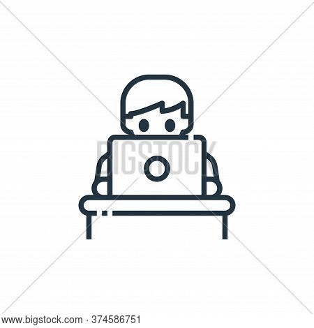 working icon isolated on white background from working from home collection. working icon trendy and