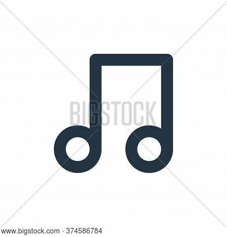 music icon isolated on white background from user interface collection. music icon trendy and modern
