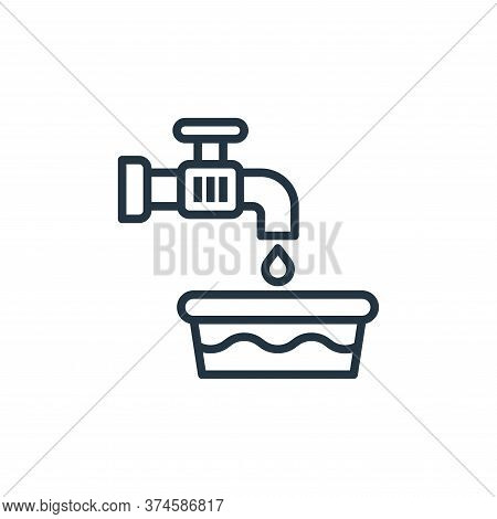 water tap icon isolated on white background from laundry collection. water tap icon trendy and moder