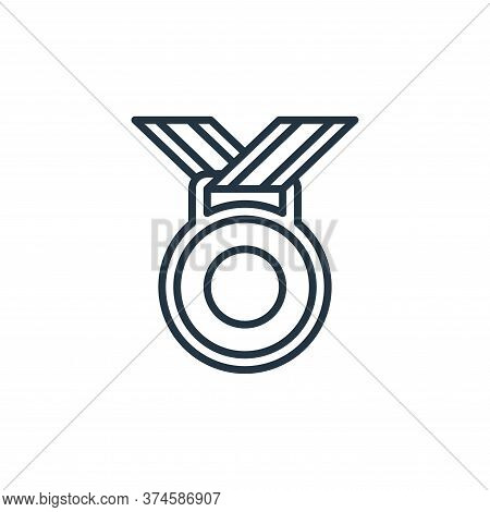 medal icon isolated on white background from management collection. medal icon trendy and modern med