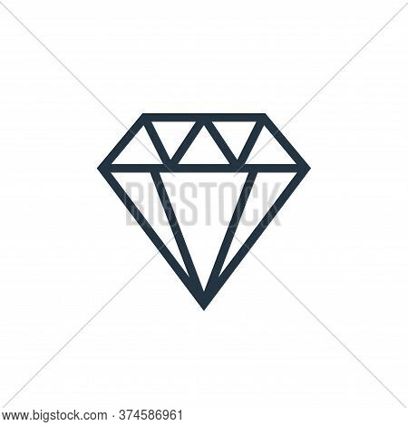 diamond icon isolated on white background from finance collection. diamond icon trendy and modern di