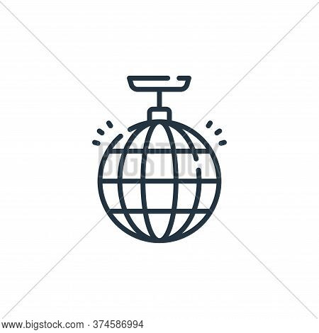 disco ball icon isolated on white background from fame collection. disco ball icon trendy and modern
