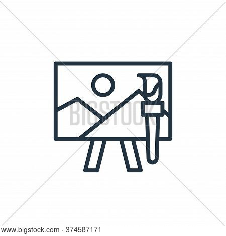 art icon isolated on white background from education collection. art icon trendy and modern art symb