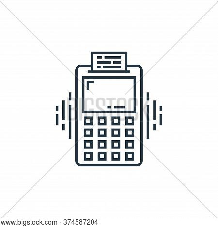 pos terminal icon isolated on white background from technology devices collection. pos terminal icon