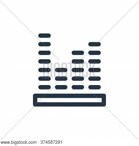 sound level icon isolated on white background from music collection. sound level icon trendy and mod