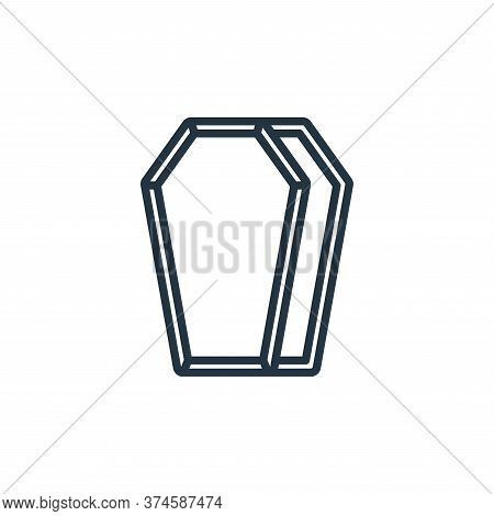 coffin icon isolated on white background from funeral collection. coffin icon trendy and modern coff