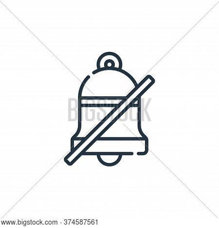 mute icon isolated on white background from calendar and date collection. mute icon trendy and moder