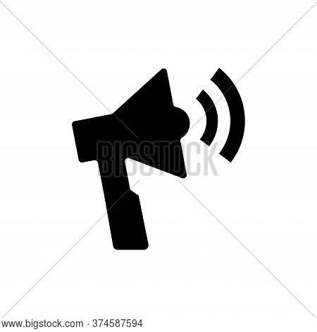 Vector Icon Loudspeaker, Simple Black Symbol On White Background