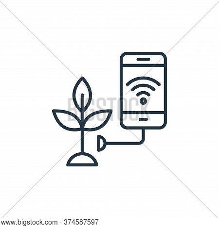 smart farm icon isolated on white background from smart farm collection. smart farm icon trendy and