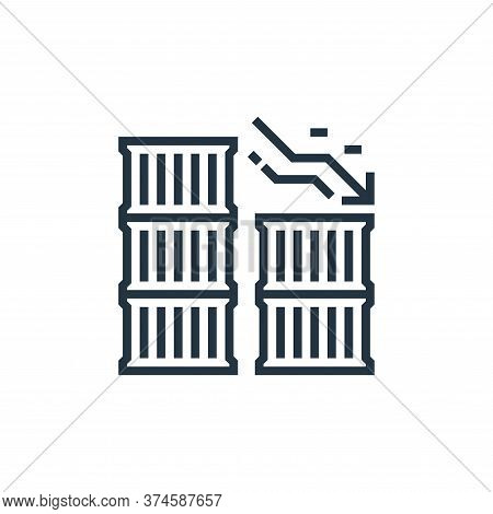export icon isolated on white background from economic crisis collection. export icon trendy and mod