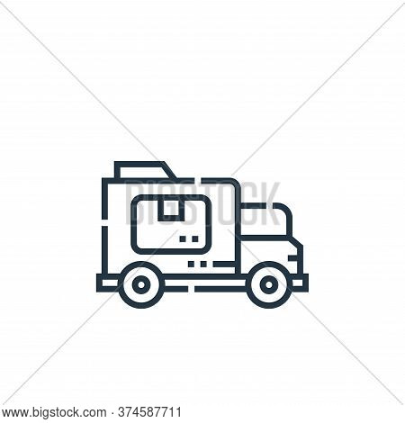 delivery car icon isolated on white background from delivery collection. delivery car icon trendy an