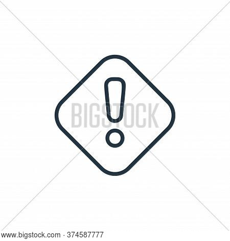 attention icon isolated on white background from covid collection. attention icon trendy and modern
