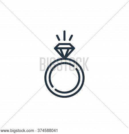 ring icon isolated on white background from mall collection. ring icon trendy and modern ring symbol