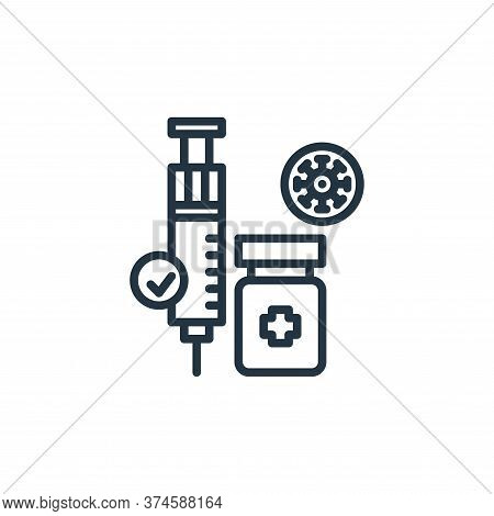 medicine icon isolated on white background from virus collection. medicine icon trendy and modern me