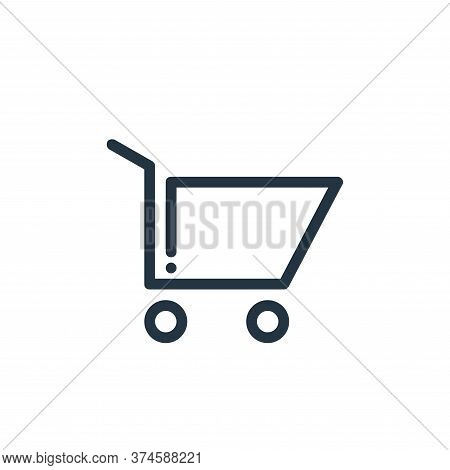 shopping cart icon isolated on white background from ricon collection. shopping cart icon trendy and