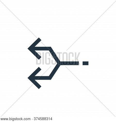 Junction icon isolated on white background from arrows collection. Junction icon trendy and modern J