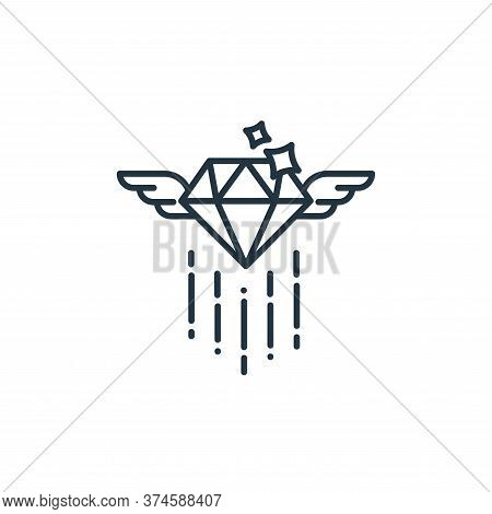 diamond icon isolated on white background from casino collection. diamond icon trendy and modern dia