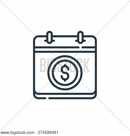 pay day icon isolated on white background from calendar and date collection. pay day icon trendy and
