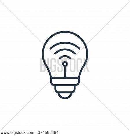 smart bulb icon isolated on white background from internet of things collection. smart bulb icon tre