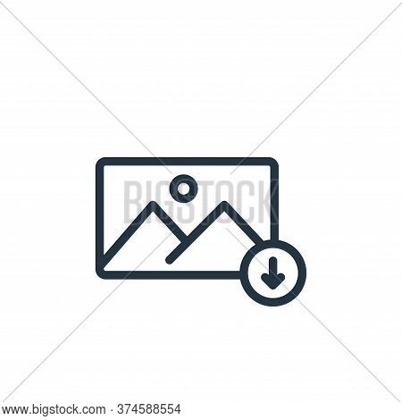 download icon isolated on white background from photography collection. download icon trendy and mod