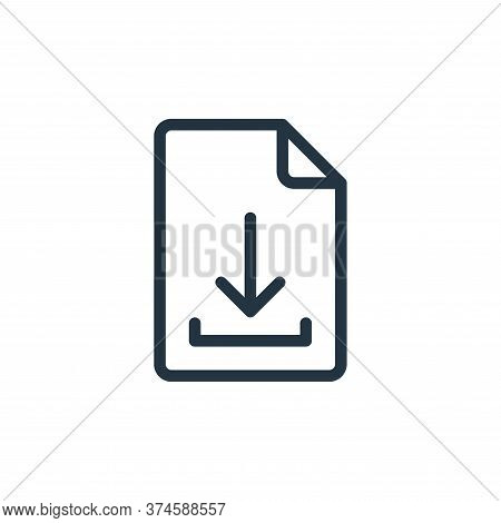 file icon isolated on white background from online learning collection. file icon trendy and modern