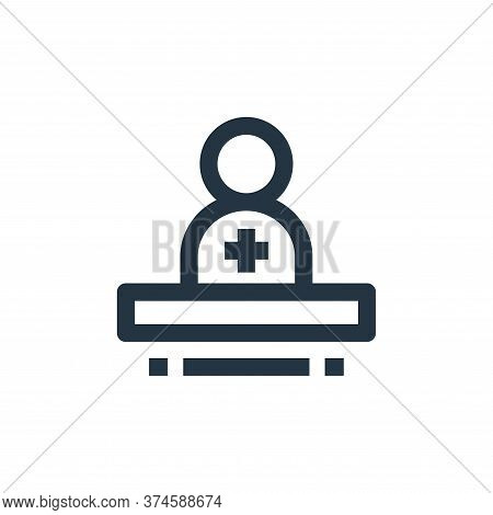 medical professional icon isolated on white background from medical kit collection. medical professi