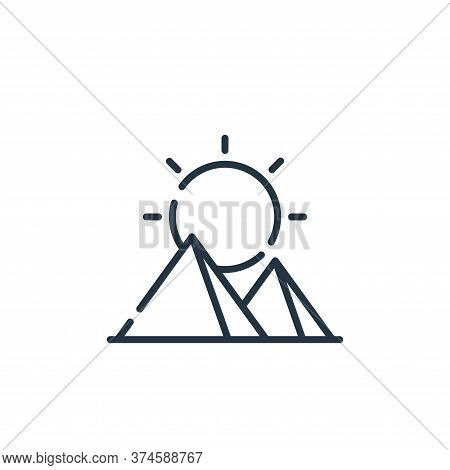 sun icon isolated on white background from desert collection. sun icon trendy and modern sun symbol