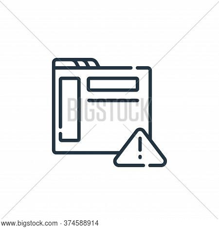 alert icon isolated on white background from web development collection. alert icon trendy and moder