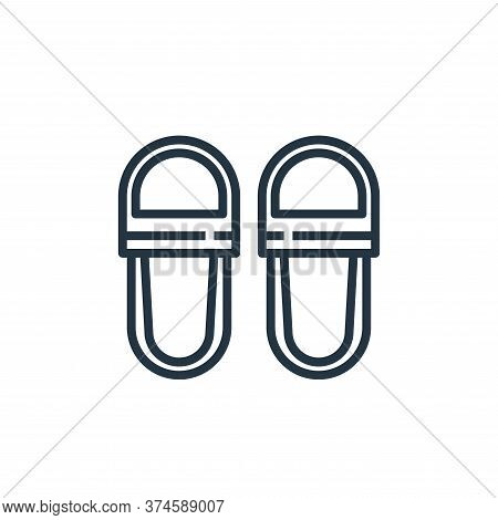 slippers icon isolated on white background from hotel collection. slippers icon trendy and modern sl