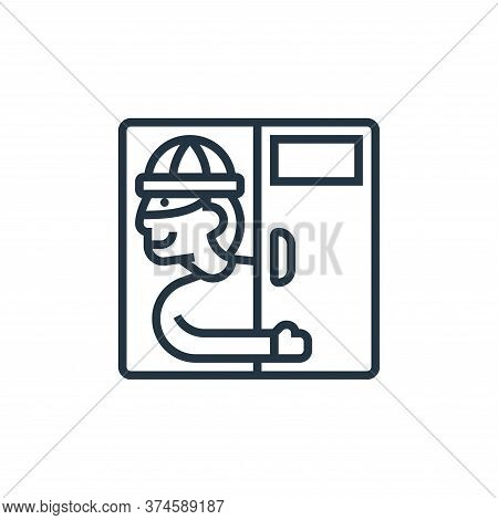 backdoor icon isolated on white background from confidential information collection. backdoor icon t