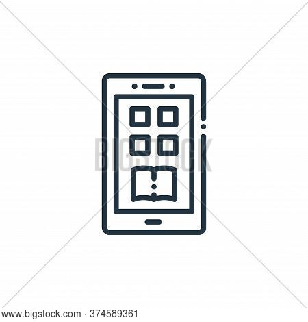 mobile app icon isolated on white background from online learning collection. mobile app icon trendy