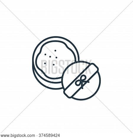 powder icon isolated on white background from beauty cosmetics collection. powder icon trendy and mo