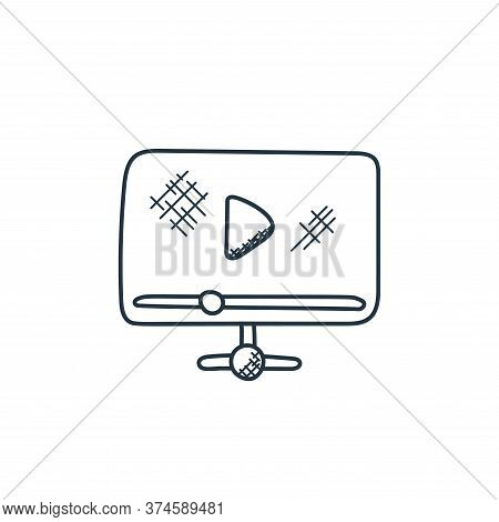 video player icon isolated on white background from technology collection. video player icon trendy