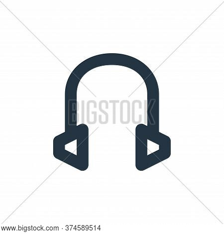 headset icon isolated on white background from user interface collection. headset icon trendy and mo