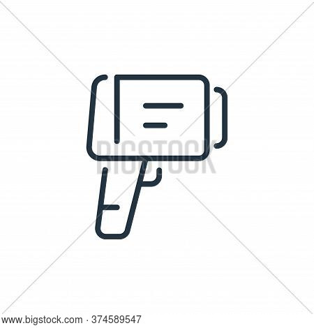 temperature control icon isolated on white background from virus transmission collection. temperatur