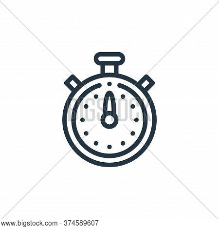 stopwatch icon isolated on white background from taxi service collection. stopwatch icon trendy and