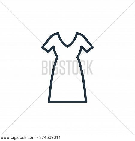 long dress icon isolated on white background from wardrobe collection. long dress icon trendy and mo