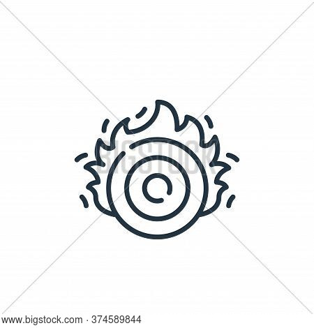 target icon isolated on white background from circus collection. target icon trendy and modern targe