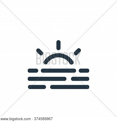 sunrise icon isolated on white background from weather collection. sunrise icon trendy and modern su
