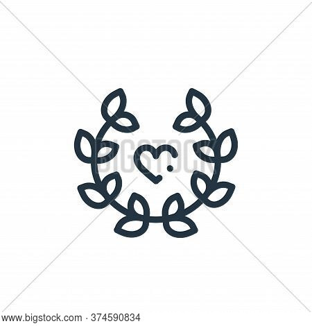laurel icon isolated on white background from world love collection. laurel icon trendy and modern l