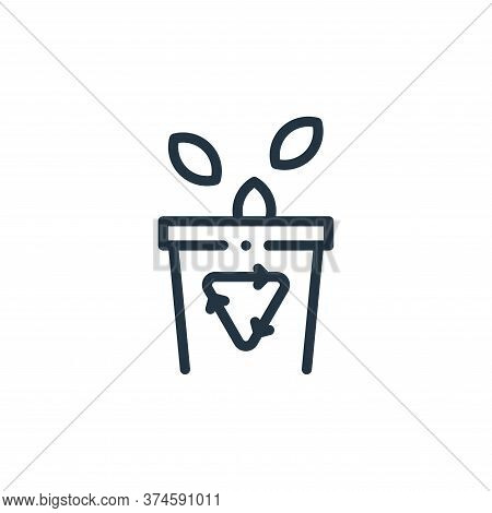 trash icon isolated on white background from ecology collection. trash icon trendy and modern trash